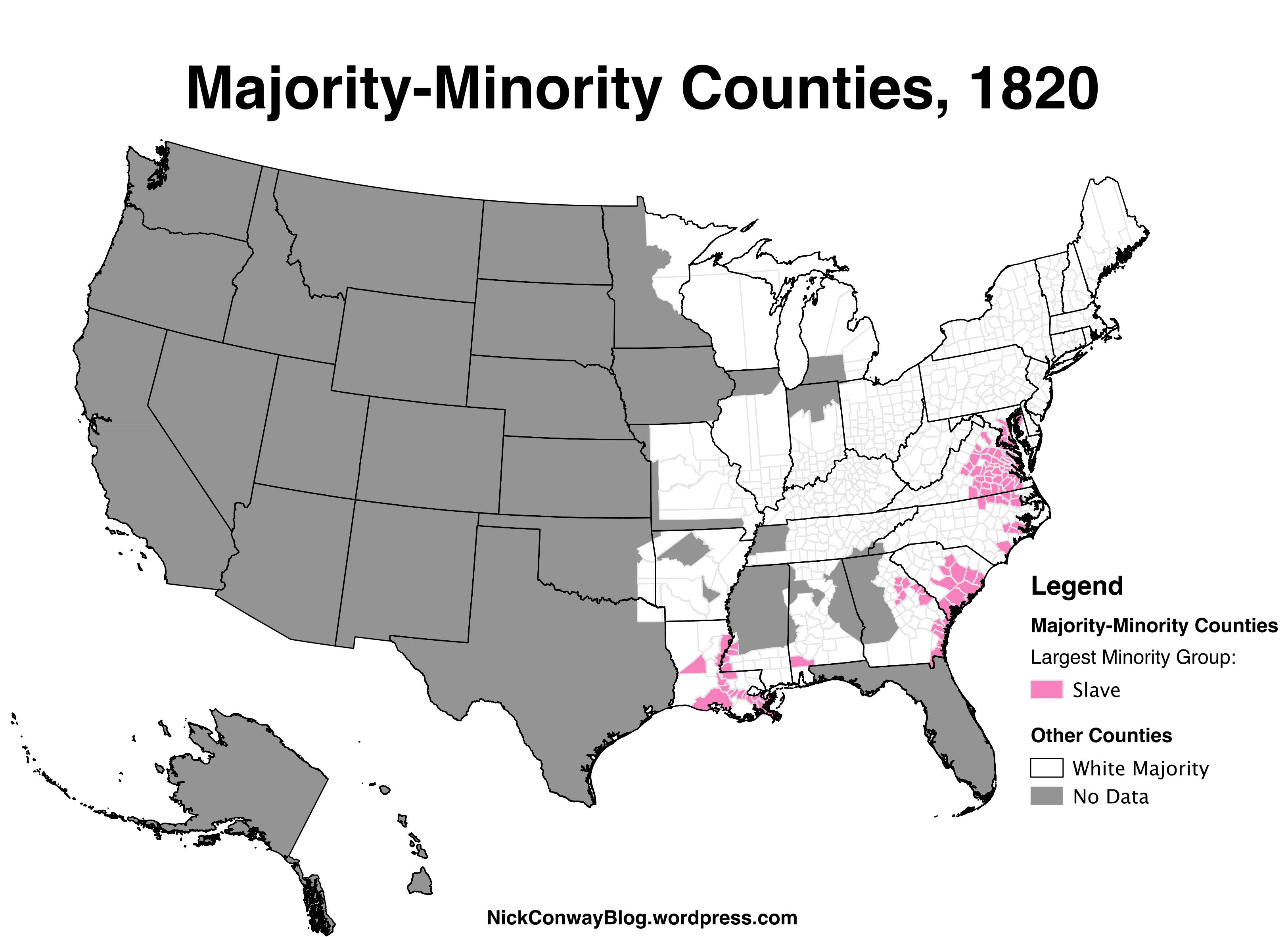 MajorityMinority Counties In The US Nick Conway - Map majority minority us