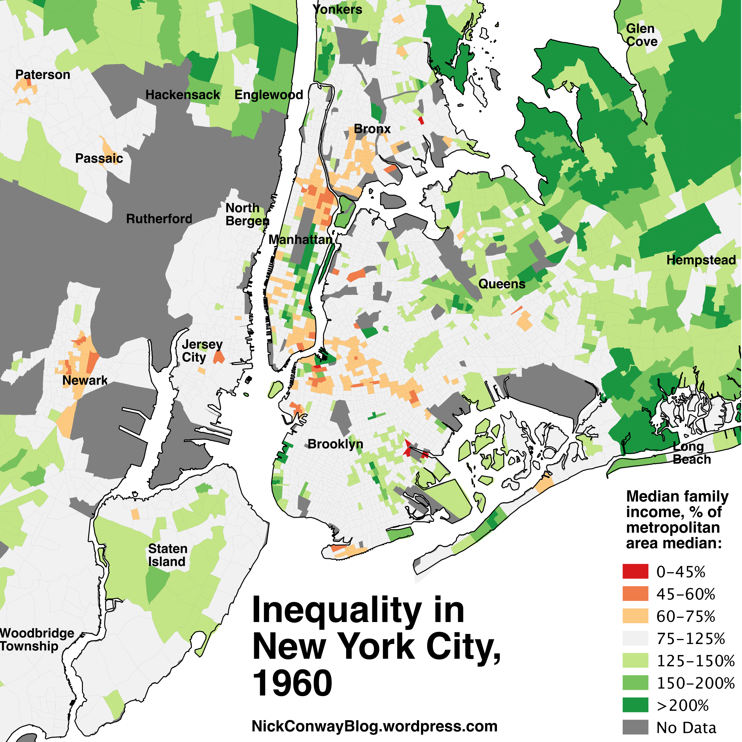Inequality In New York City   Nick Conway - Chicago map for new yorkers