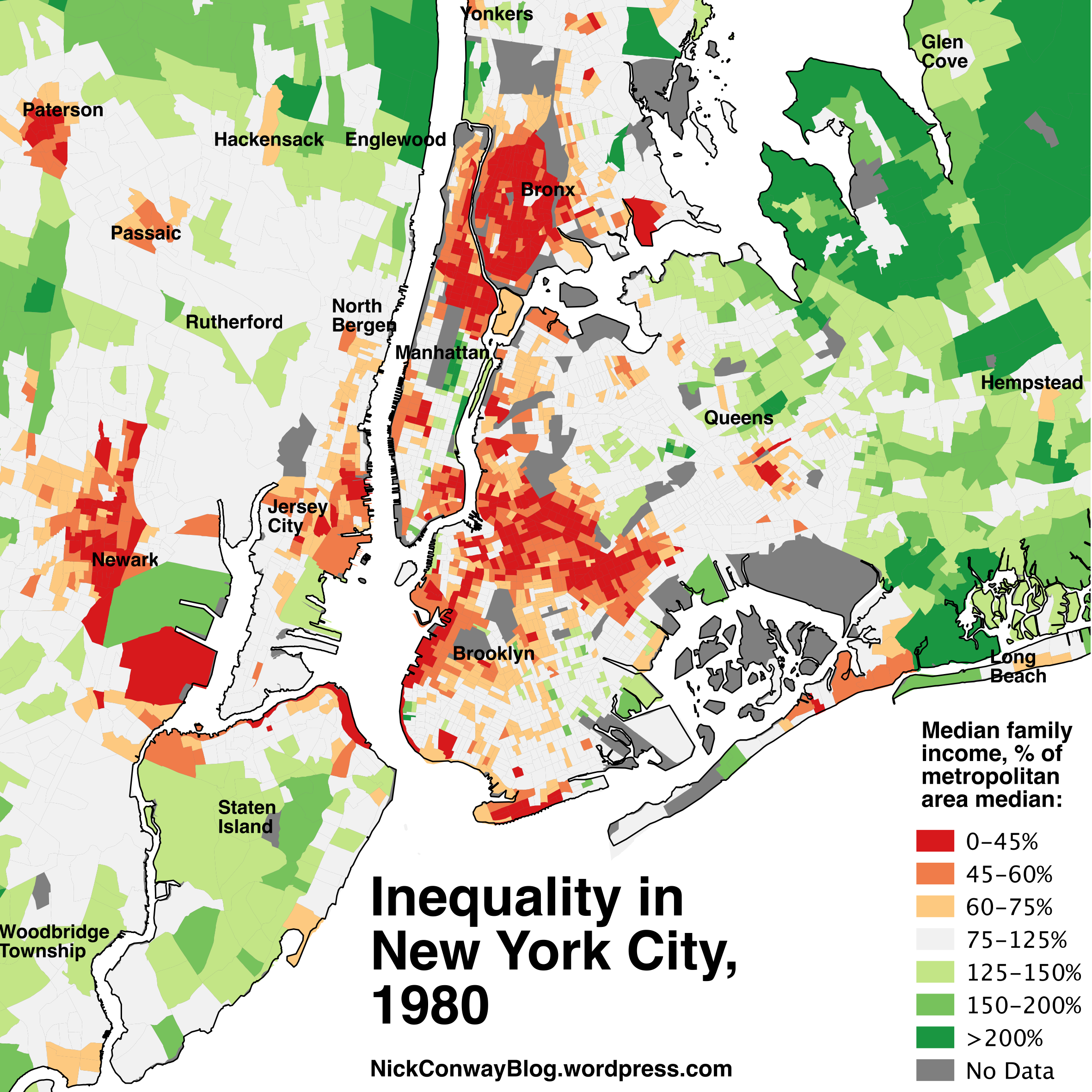 Inequality In New York City   Nick Conway - Chicago map new york